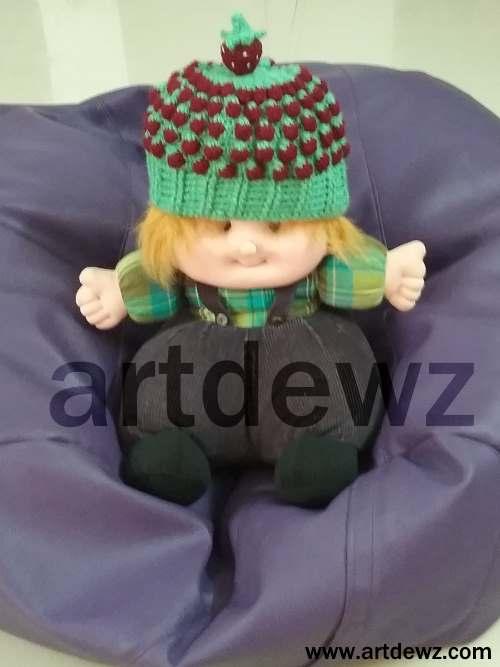 Crochet Strawberry Beanie
